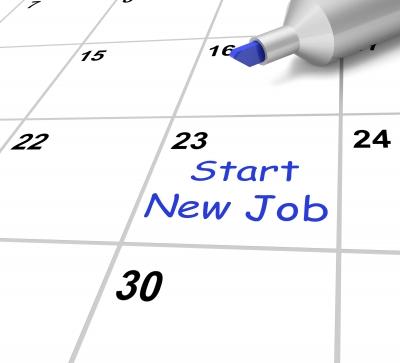 ID-100259397 'Start New Job Calendar Means Beginning Employment Contract' by Stuart Miles